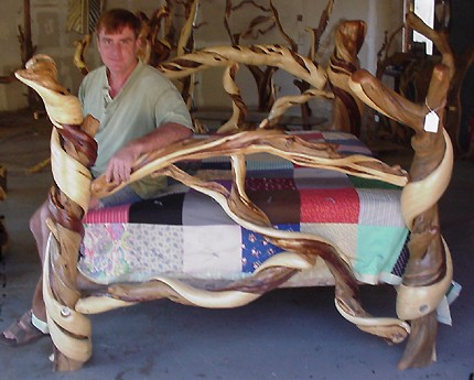 juniper rustic bed