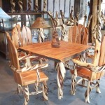 twisted juniper table and chair set